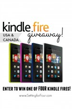 Kindle Fire Giveaway! 4 Lucky winners! www.settingforfour.com
