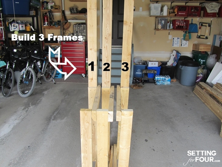 Calling all gardeners! How to make a gorgeous DIY Potting Bench from FREE pallet wood! Has ALL the bells and whistles: a faucet, sink, running water, mounted hose reel, shelves, tool storage, pegboard and more! Free build tutorial, instructions and supply list included. www.settingforfour.com