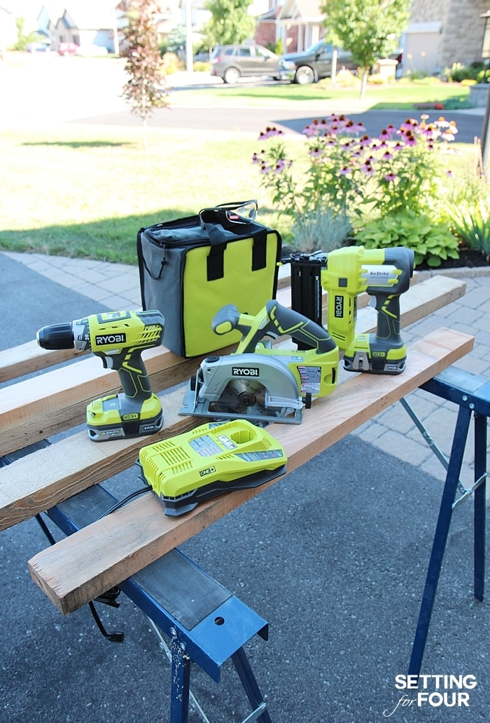 Ryobi power tools. www.settingforfour.com