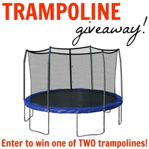 Trampoline Giveaway! Two Lucky Winners!