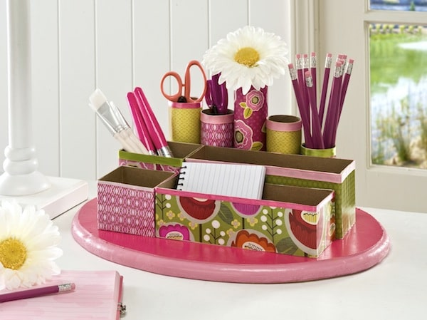 Recycled Craft DIY Desk Organizer