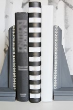 DIY Rhinestone Glam Bookends For Your Home