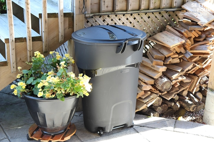 See our clever wood storage idea to keep fire wood dry! This is a helpful fire wood storage tip if you have a fire pit, wood burning fireplace or wood stove too! www.settingforfour.com