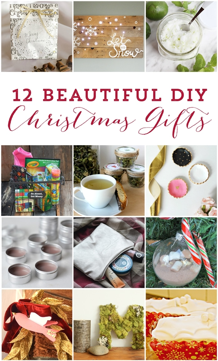 12 Beautiful DIY Christmas Gifts to make your friends and family, Thoughtful gifts that are easy on the wallet too! www.settingforfour.com