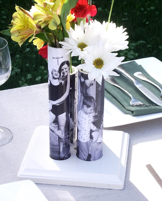 DIY Vase from a PVC Pipe - Great gift idea for Mother's Day, Birthday and teacher gift. Wouldn't these be fabulous for wedding, shower and anniversary party centerpieces?