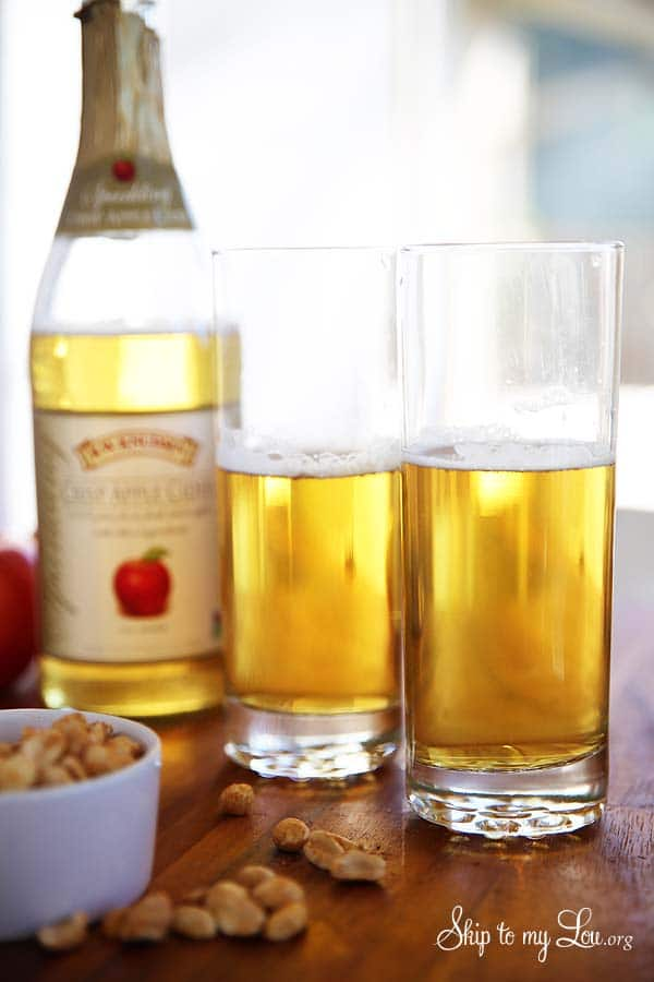 Ring in Happy Hour with this delicious Apple Cider Shandy recipe! www.settingforfour.com