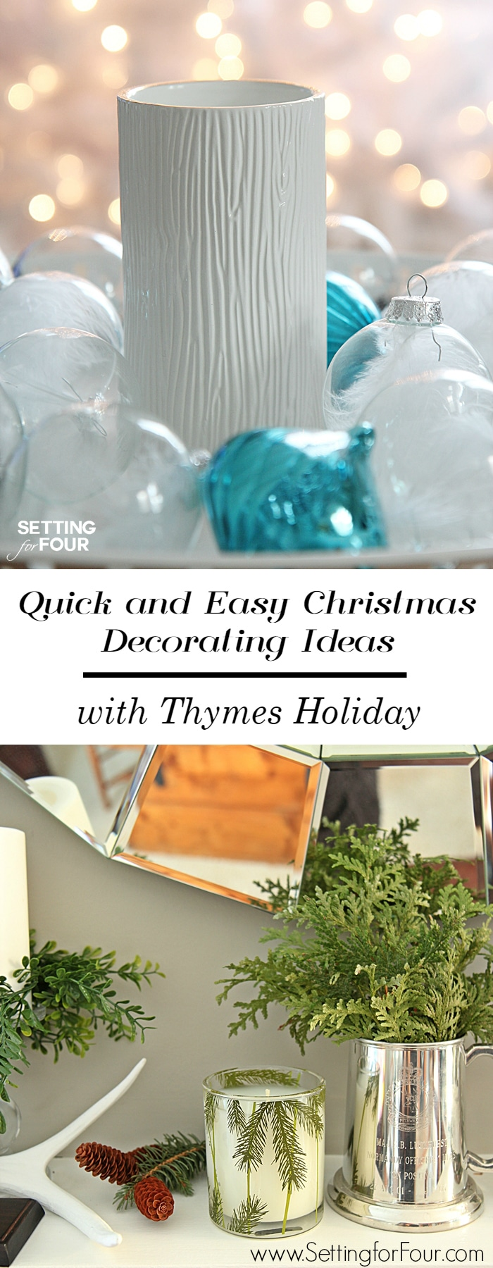 Easy christmas decorating with thymes holiday setting