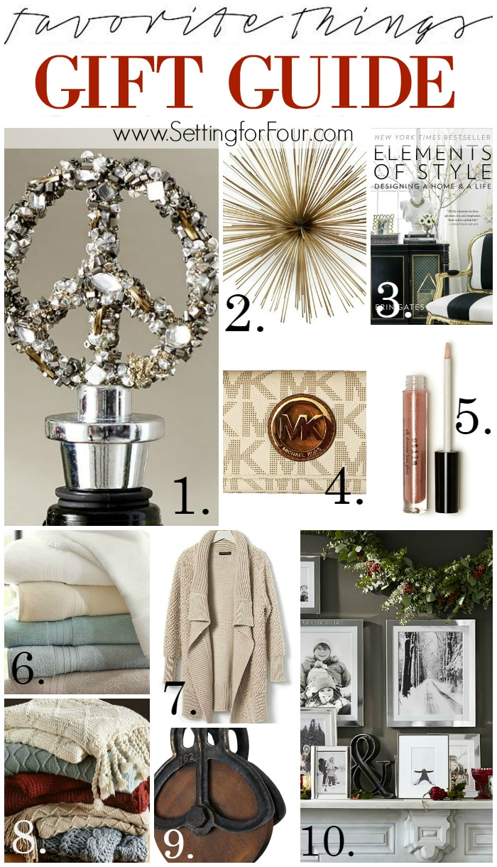 Check off your gift list with My FAVORITE THINGS GIFT GUIDE FOR HER - see 10 of my most favorite things! Great gifts for any female on your gift list! Includes my fave makeup, clothing and decor items.
