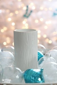 Quick and Easy Christmas decorating ideas with candles. www.settingforfour.com