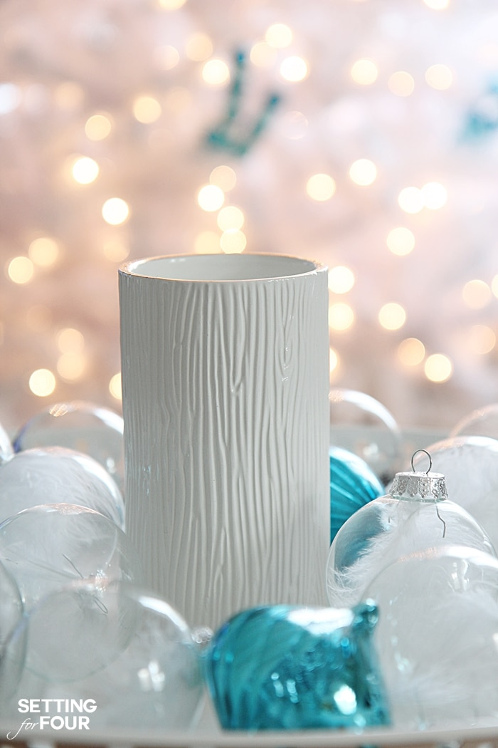 Quick and Easy Christmas decorating ideas with Thymes Holiday. www.settingforfour.com