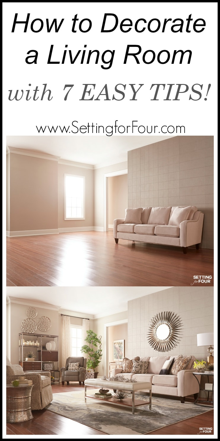 How To Decorate A Living Room With 7 Easy Tips See How At Www