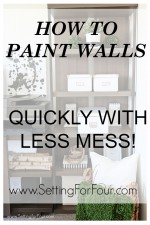 See these fabulous home improvement tips: How to Paint Walls Quickly with Less Mess! These painting tools and tips will have you finished painting your rooms in a third of the time and with less drips and spills!