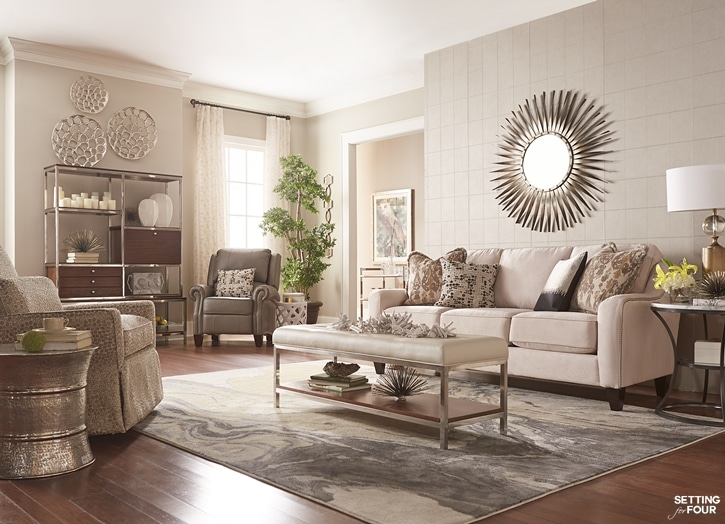 6 decor tips how to create a cozy living room setting for Living area decor ideas