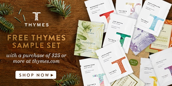 It's never too early to start holiday planning! Get your free Thymes Sample Set and celebrate the Holidays with Thymes fragrances! Festive ways to decorate your home and beautiful holiday gift ideas. #itsnevertooearly #ad www.settingforfour.com