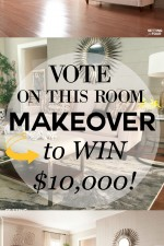 Vote on this room makeover to win $10,000 La-Z-Boy furniture! See how to enter here at www.settingforfour.com