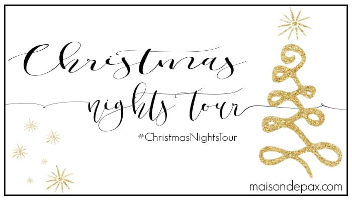 See holiday homes twinkle and shimmer at night! 25 bloggers open their doors to share with you their Christmas Nights Tours! Lots of holiday decorating inspiration! #ChristmasNightsTour www.settingforfour.com