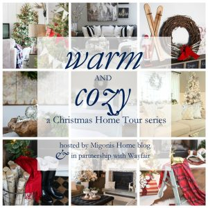 See all of the beautiful Christmas holiday decorating ideas and 14 Holiday Home tours in this inspirational Warm and Cozy Christmas Home Tour series! www.settingforfour.com