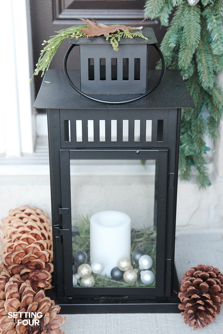 10 Minute Christmas Lantern Decor - Setting for Four