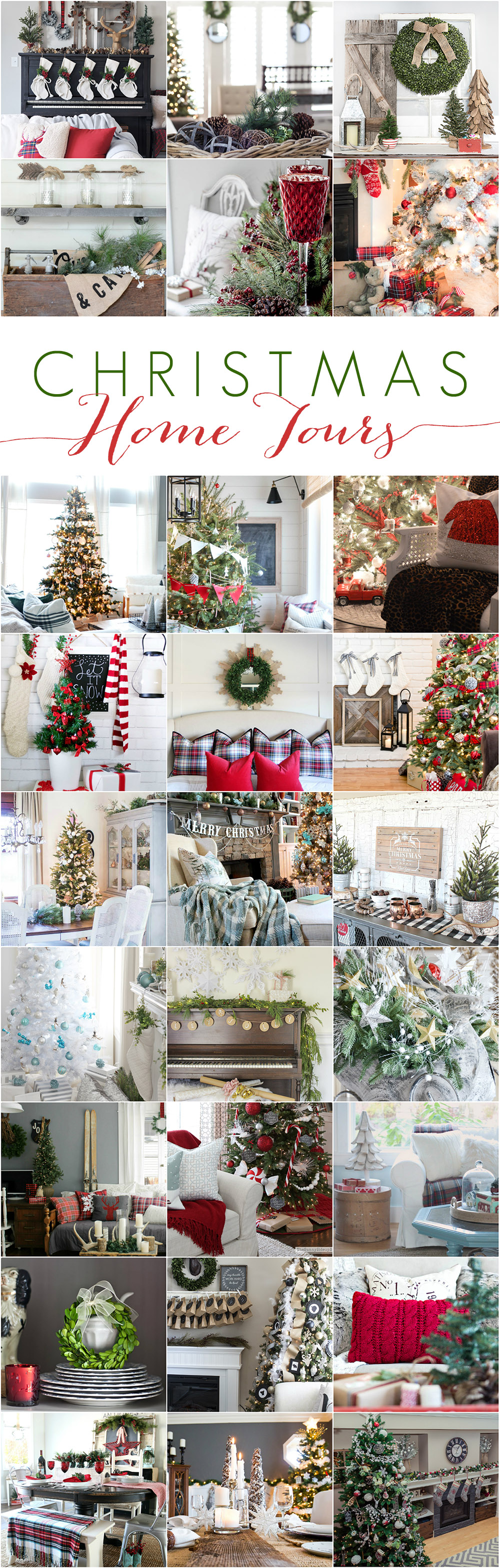 Looking for Christmas decor inspiration? See lots of holiday decor ideas here at the Cherished Christmas Home Tour with Country Living magazine! 27 talented Bloggers Christmas Home Tours at www.settingforfour.com