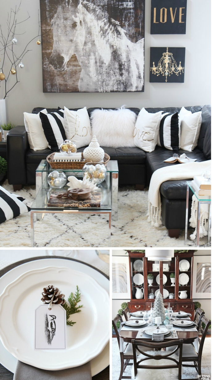 Christmas Home Tour - Part Two - Setting for Four