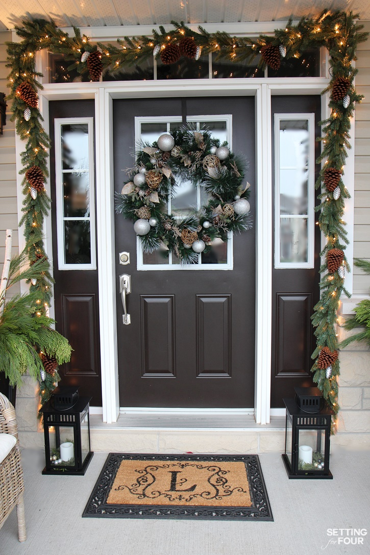 Country Christmas Decor Outside : Christmas home tour with country living setting for four