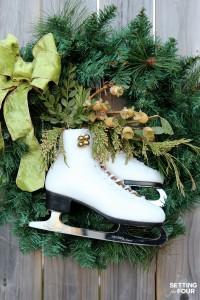 DIY Ice Skate Wreath Decor – Quick and Easy!