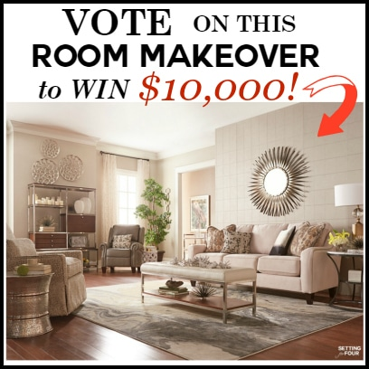 Vote on this ROOM MAKEOVER to WIN $10,000 La-Z-Boy furniture! Make your home beautiful with gorgeous new furniture! www.settingforfour.com