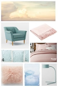Pantone's Color of the Year 2016 are Rose Quartz and Serenity! See how to use them in your home with these do-able decor ideas! www.settingforfour.com
