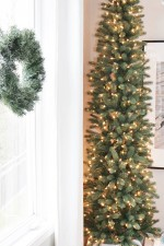 Pencil Christmas Tree style for narrow spaces like foyers, hallways, apartments, condos.