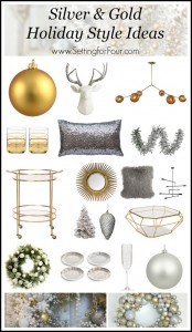 Silver and Gold Holiday Style Decor Ideas. www.settingforfour.com