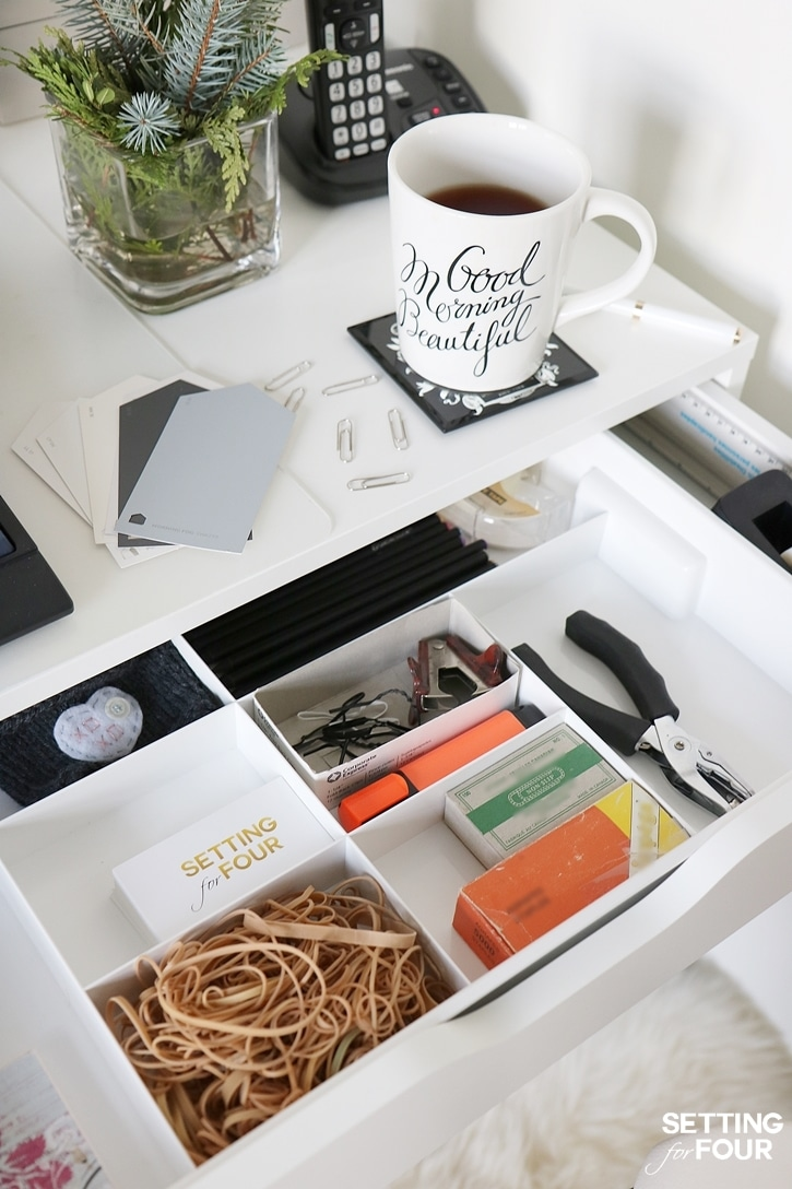 5 easy organization ideas to create the chicest desk ever - Ikea desk drawer organizer ...