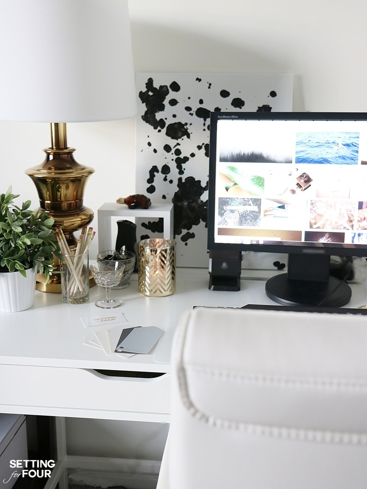 Control the clutter! 5 Easy Organization Ideas to Create the Chicest Desk Ever! www.settingforfour.com