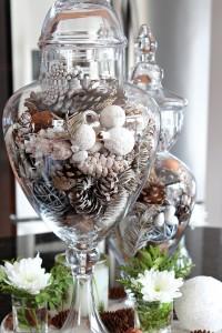 10 minute Kitchen Decorating idea using apothecary jars.