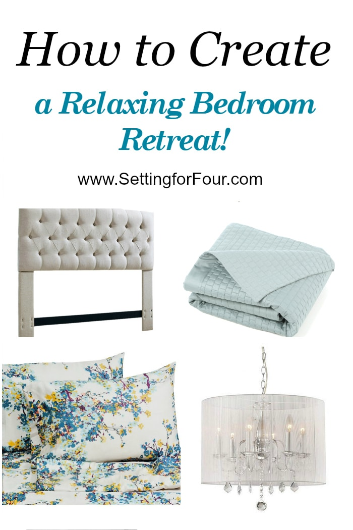 11 Tips: How to Create a Relaxing Bedroom Retreat! I'll show you how, step by step, to get the bedroom of your dreams. Helpful DIY decor ideas for your home! www.settingforfour.com