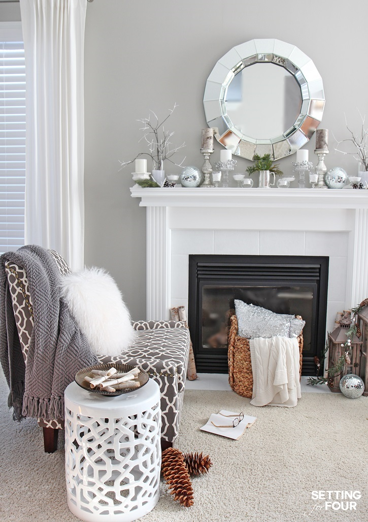 My Home Decor Guide: Winter Mantel Decorating Ideas