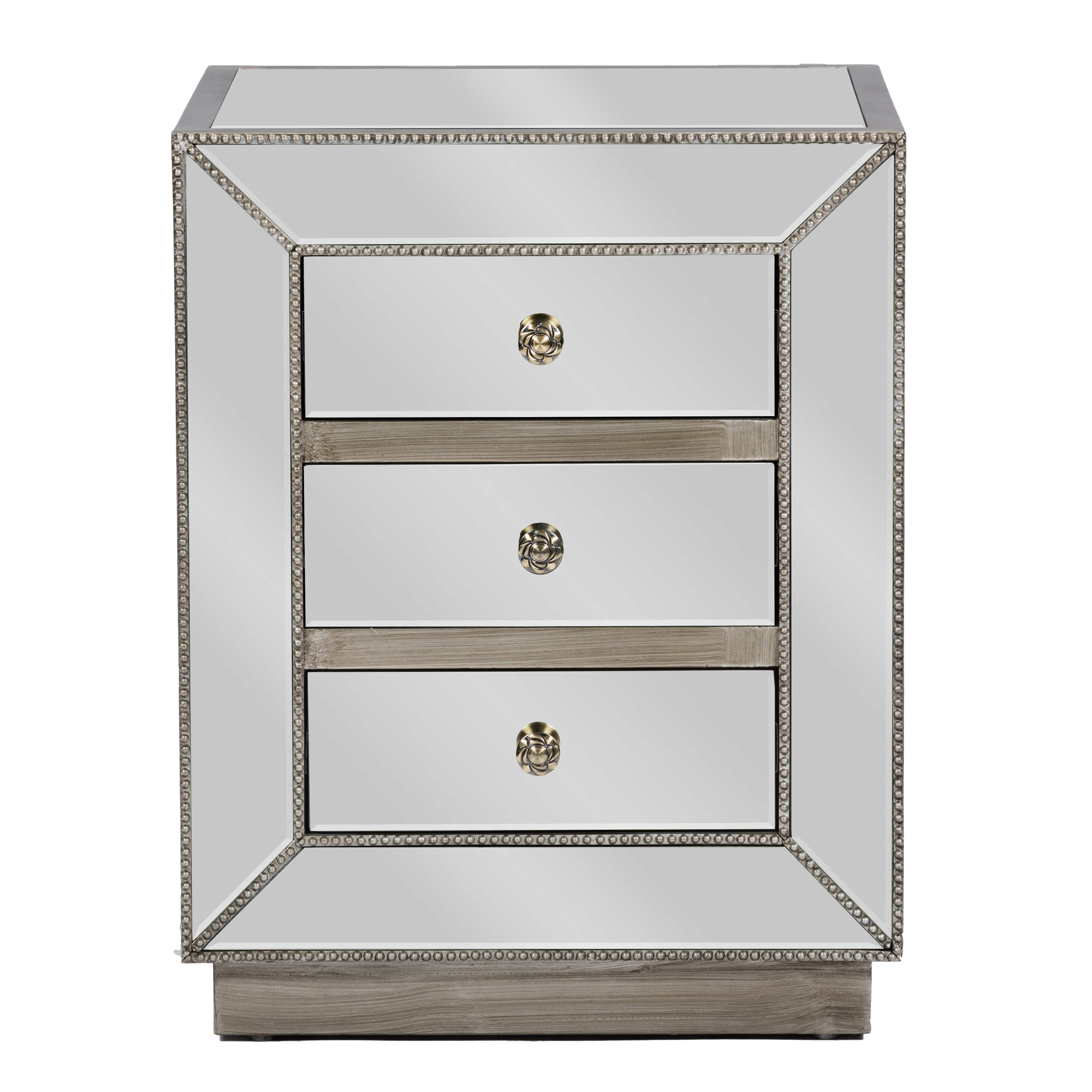 Mirrored Night Stand