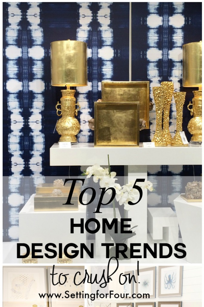 Top 5 Home Design Trends to Crush on and my experience as a Design Trend Scout at AmericasMart Atlanta Design Market! #design #decor #trend #decorideas