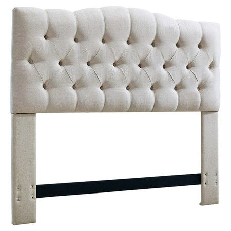 Home Furniture Essential: Gorgeous Tufted Headboard perfect for reading in bed! This button tufted upholstered headboard will instant style to create the bedroom of your dreams!