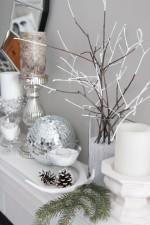 Winter mantel decorating ideas. www.settingforfour.com