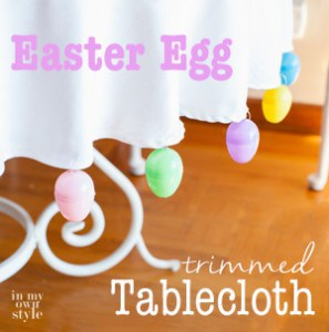 Easter Egg trimmed tablecloth