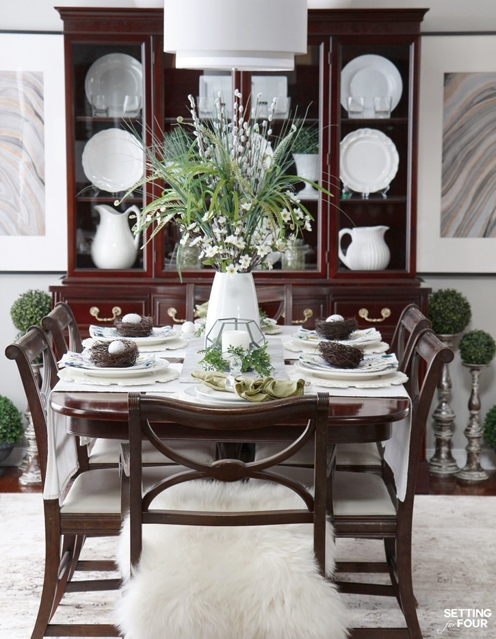 How To Decorate Your Dining Table For Spring! Www.settingforfour