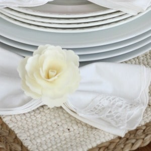 DIY flower napkin rings