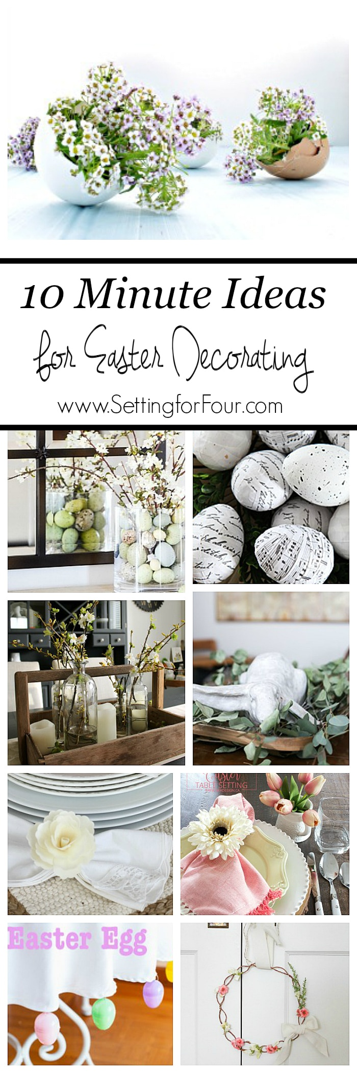 10 Minute Easter Decorating Ideas - simple, quick and easy decor ideas when you're short on time!
