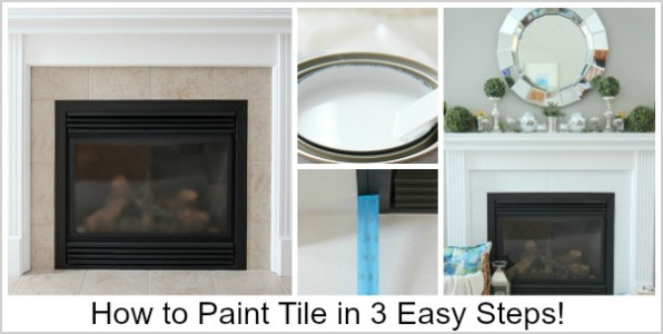 How to paint tile in 3 easy steps! No sanding required! www.settingforfour.com