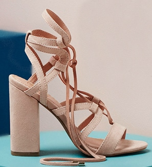 Newest style for Spring and Summer - lace up block heeled shoes. Stunning! LOVE this color!