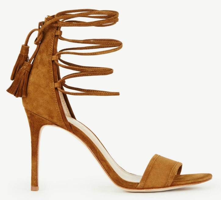 Beautiful! Lace up heels with tassels.