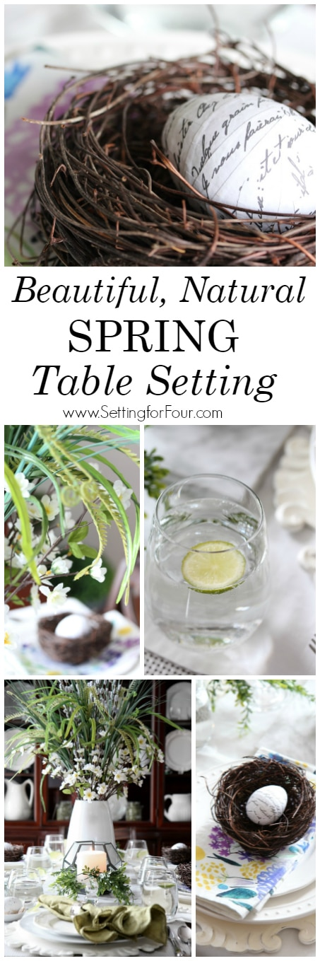 How to make a beautiful, natural Spring Table Setting - let me show you how!