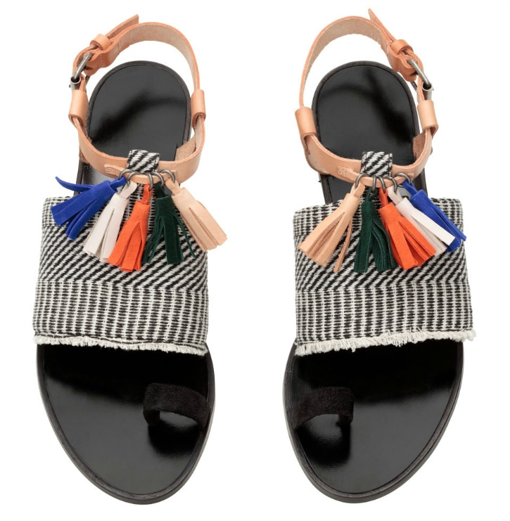 Sandals with tassels - adorable!