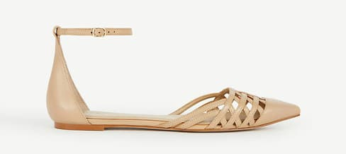 Strappy flats are the newest look for spring and summer! Love this color and the ankle strap!