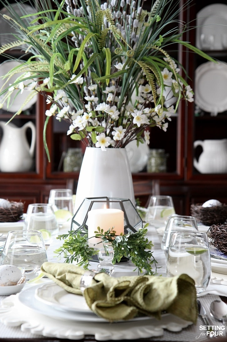 See this beautiful, natural table setting for spring! www.settingforfour.com